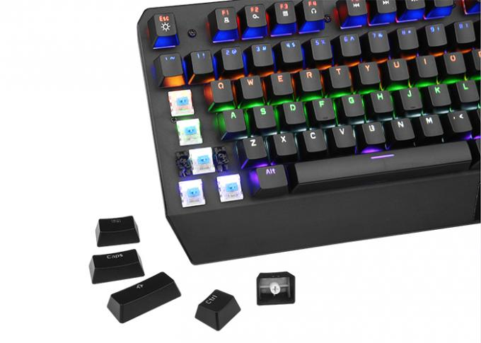 Wired Gaming Keyboard 104 Keys , Mechanical Light Up Keyboard ABS Plastic Material
