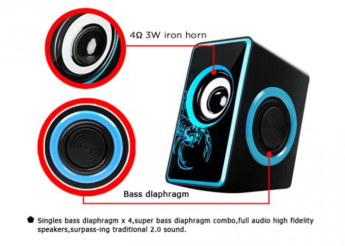 Small Multimedia Computer Speakers , 2.0 Speakers For Pc Nice Design