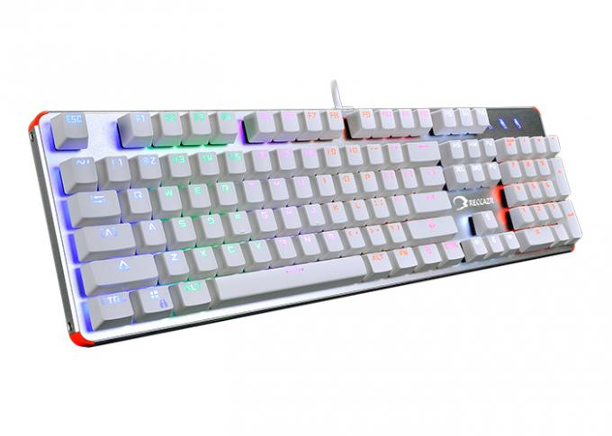 Reccazr KG904 104 blue switches keys RGB Wired Mechanical gaming keyboard , N key rollover