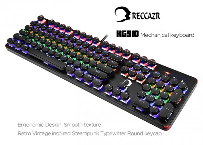 KG910 Ergonomic Mechanical Gaming Keyboard Blue Switch OEM / ODM Available