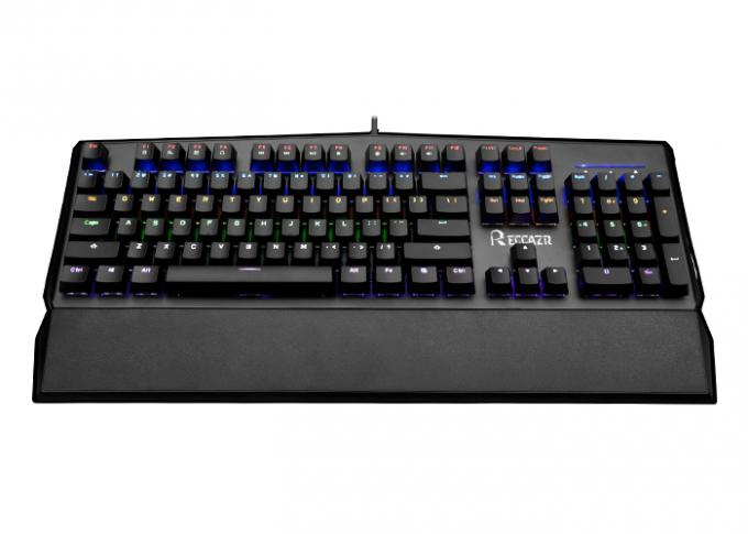 Professional Unique Backlit Usb Gaming Keyboard Anti Ghosting With Palm Rest