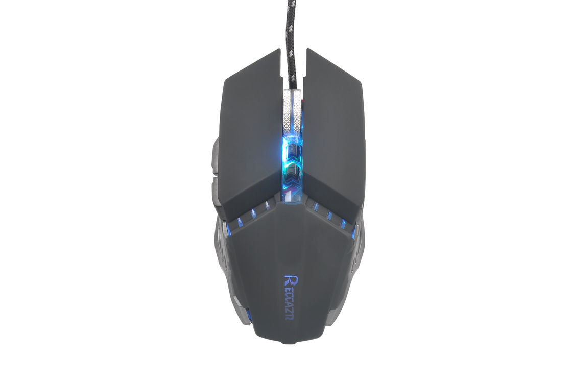 RECCAZR MS303 Computer Gaming Mouse Black Entry Level 7d Long Button Life