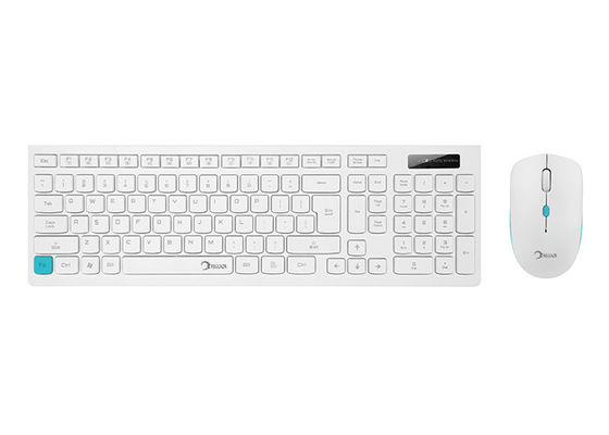 White Keyboard And Mouse Wireless , Keyboard And Mouse Kit OEM Available