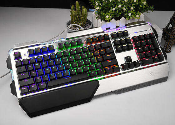 Metal Mechanical Keyboard RGB , Gaming Computer Keyboard Light Up Keys