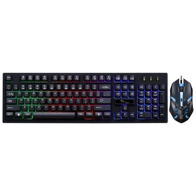 104 Key Backlit Gaming Keyboard And Mouse Combo 3 Backlight Color Adjustable