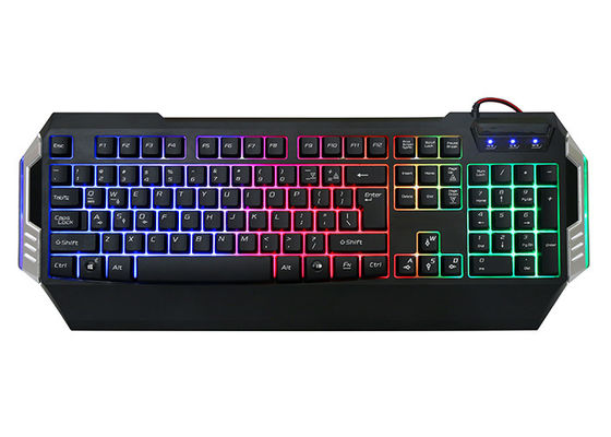 Gk501 Low Profile Gaming Computer Keyboard Rainbow Backlit 104 Keys Oem / Odm Available