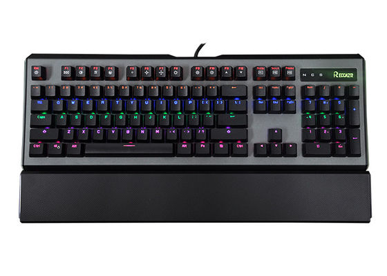 Ergonomic RGB Mechanical Keyboard With palm-rest and multimedia Function For Gaming